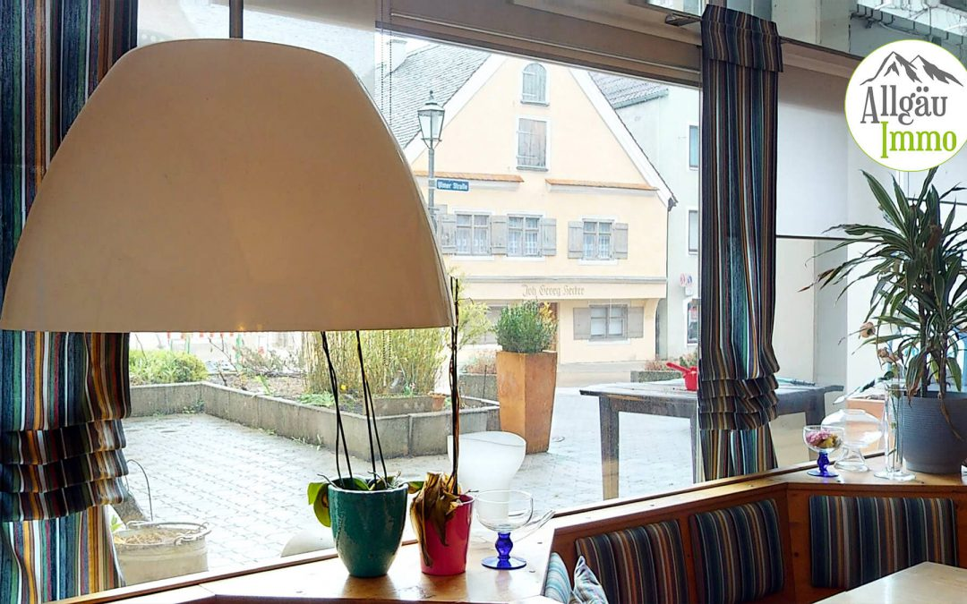 Voll eingerichtetes Café / Bistro in Memmingen mit Terrasse in der Nähe vom Marktplatz!