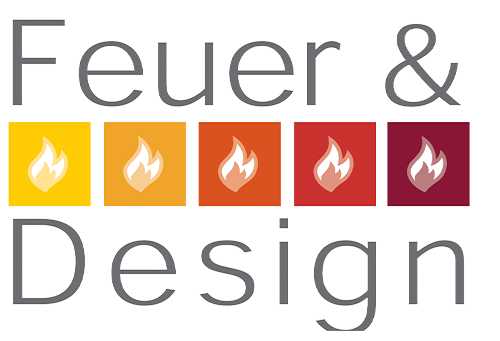 Feuer und Design Logo