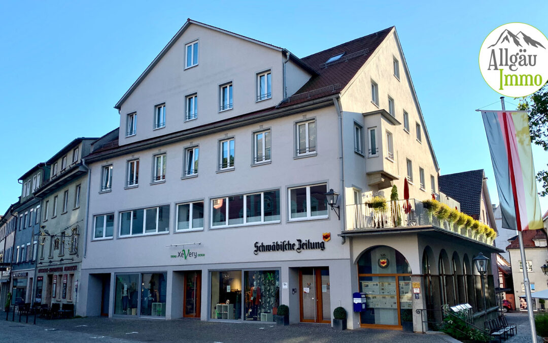 Kapitalanleger aufgepasst! Über 4 % Nettorendite. Sehr gut vermietete Gewerbeeinheit in Leutkirch.